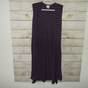Lularoe Joy Long Vest Size Large